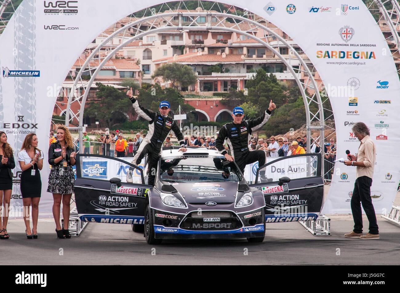 Olbia, Italy - 21.10.2012. Rally Italia Sardegna 2012, valid as italian stage of FIA World Rally Championship. Day - Stock Image