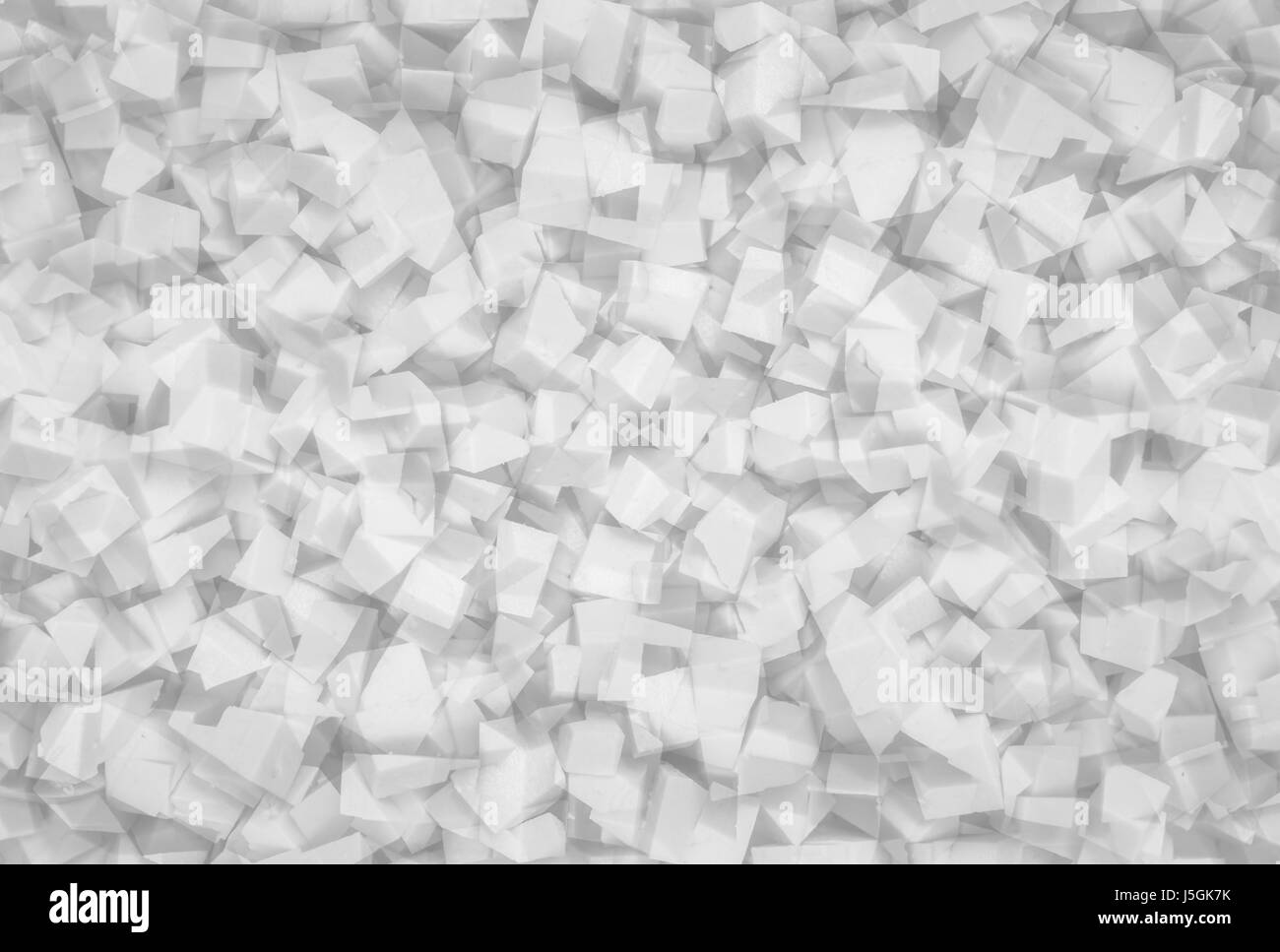 white abstract geometrical texture - Stock Image