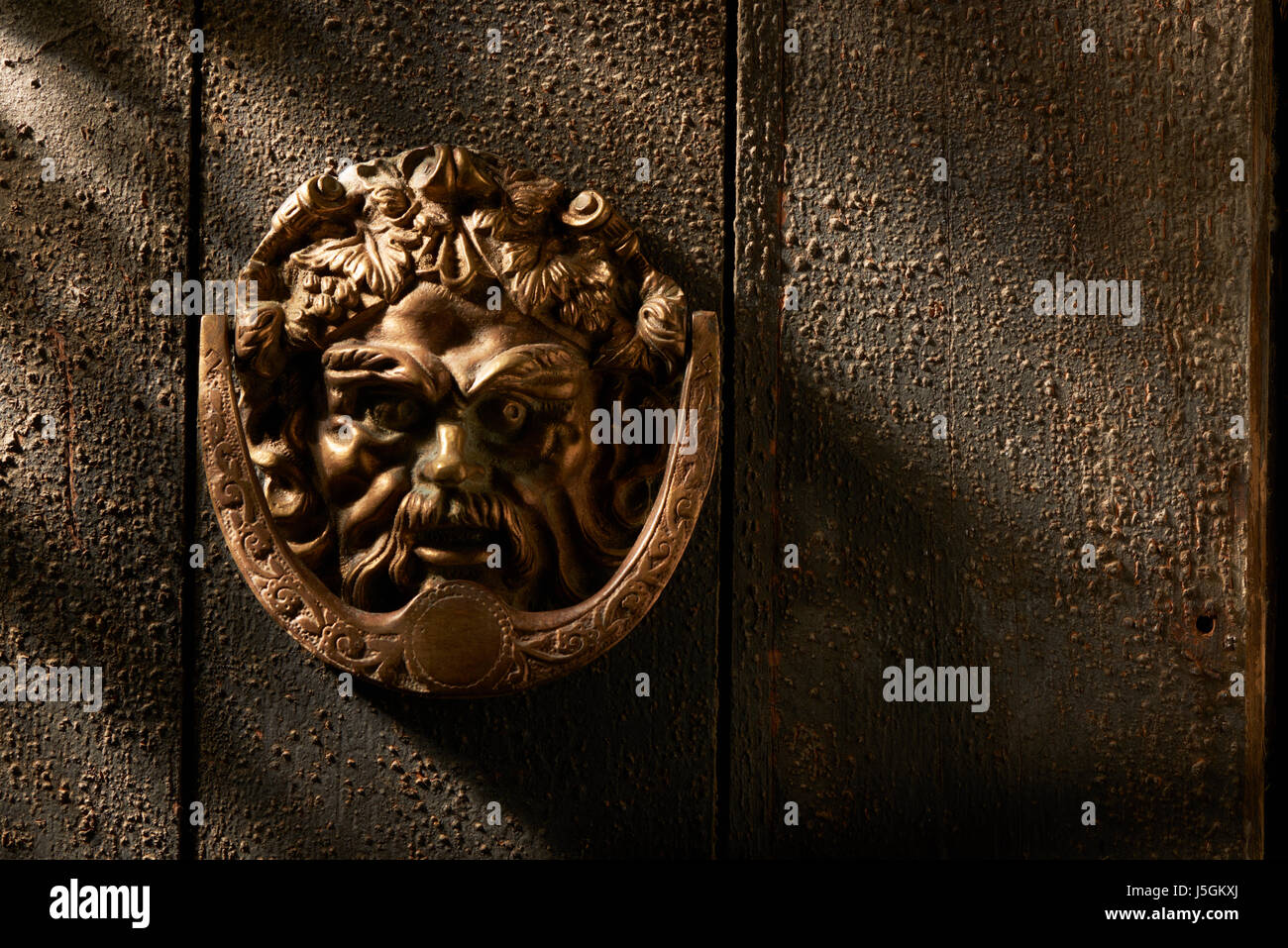 Ornate Brass Door Knocker - Stock Image