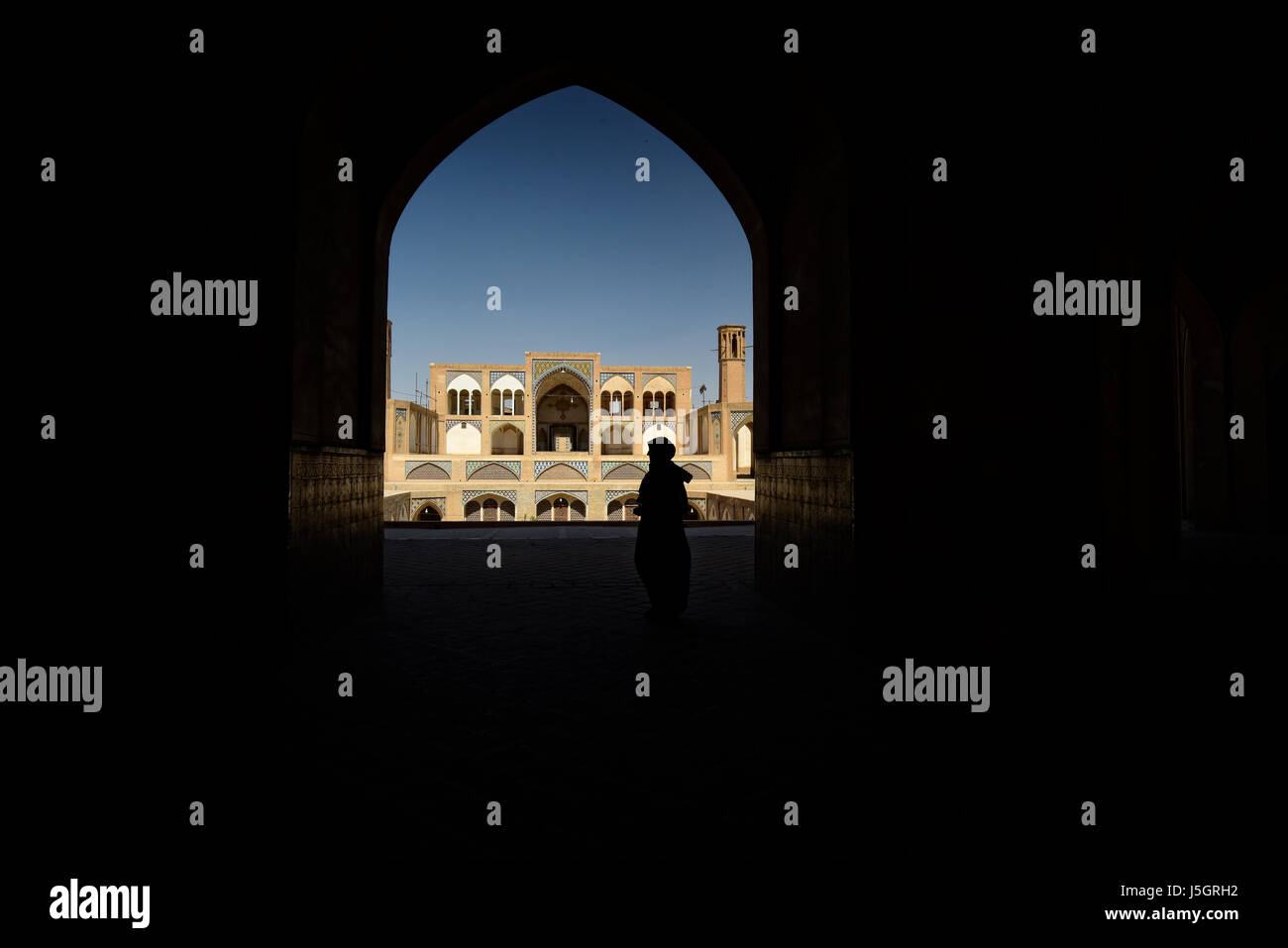 Agha Bozorg Mosque, Kashan, Iran, Middle East - Stock Image