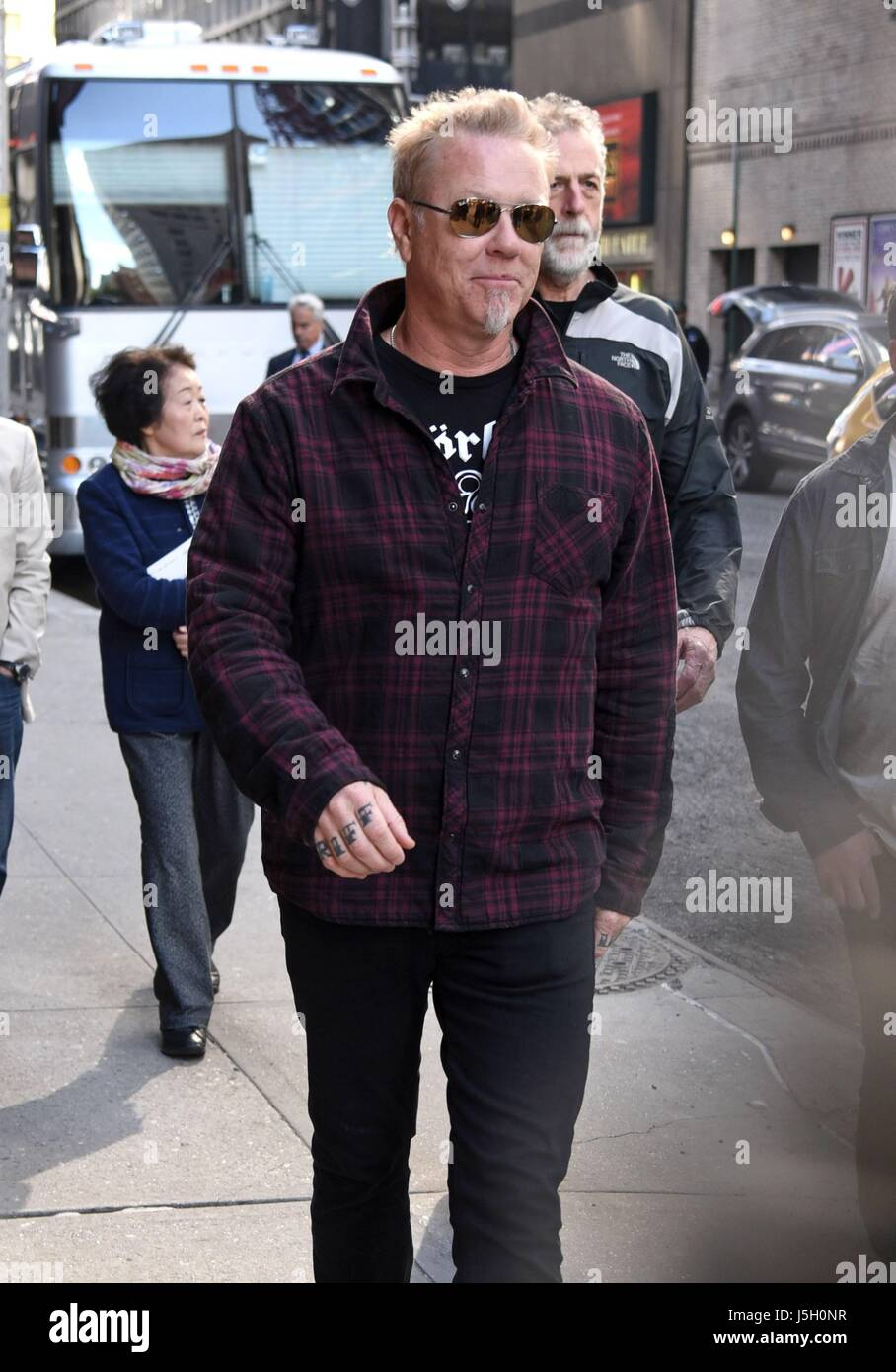 New York, NY, USA. 15th May, 2017. Metallica, James Hetfield out and about for Celebrity Candids - MON, New York, Stock Photo