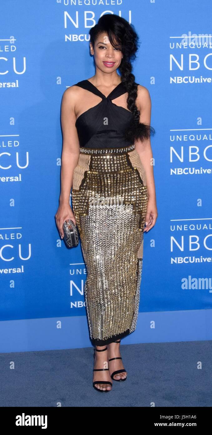New York, NY, USA. 15th May, 2017. Susan Kelechi Watson at arrivals for 2017 NBCUniversal Upfront Presentation  - Stock Image