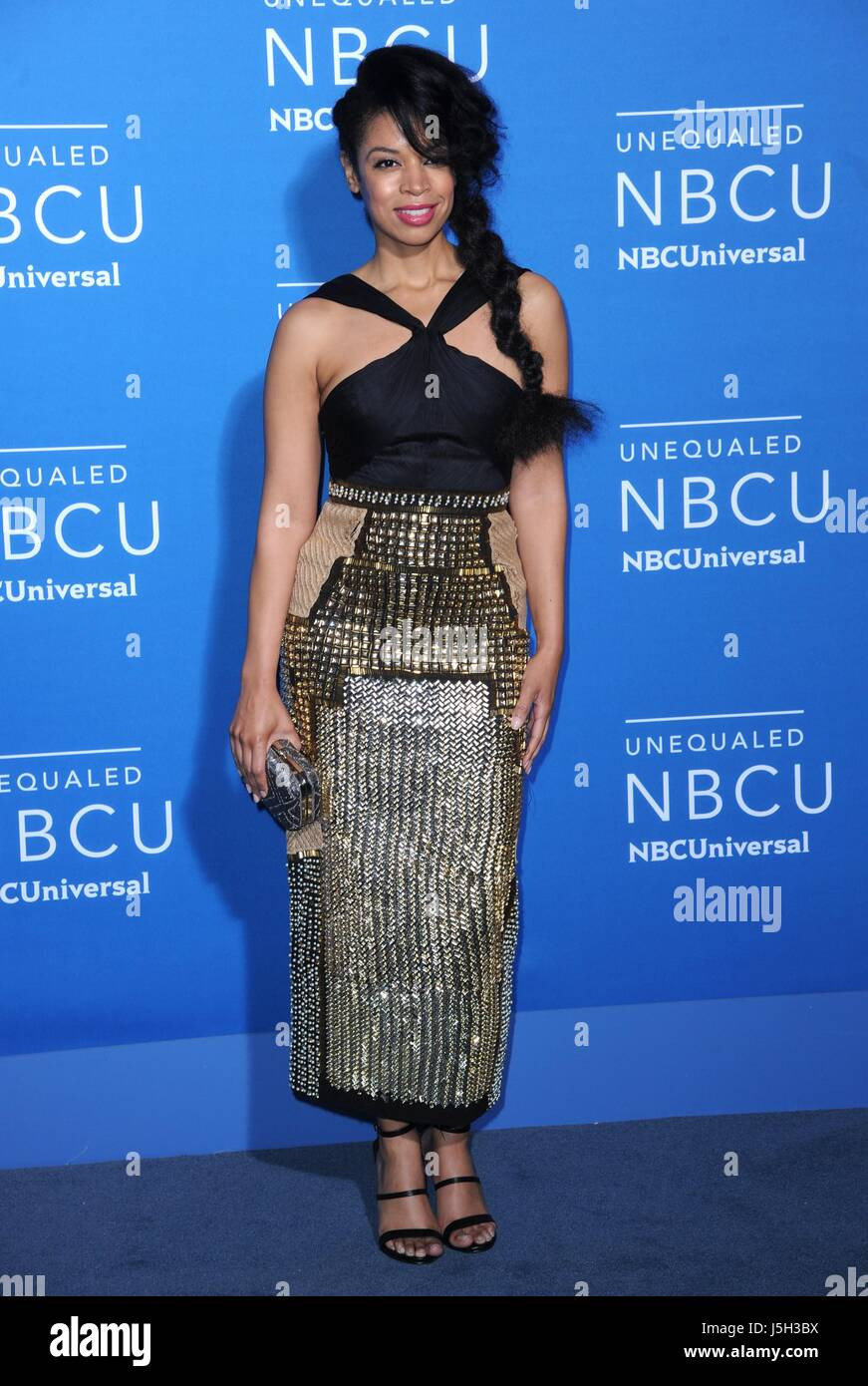 Susan Kelechi Watson at arrivals for 2017 NBCUniversal Upfront Presentation, Radio City Music Hall, New York, NY - Stock Image