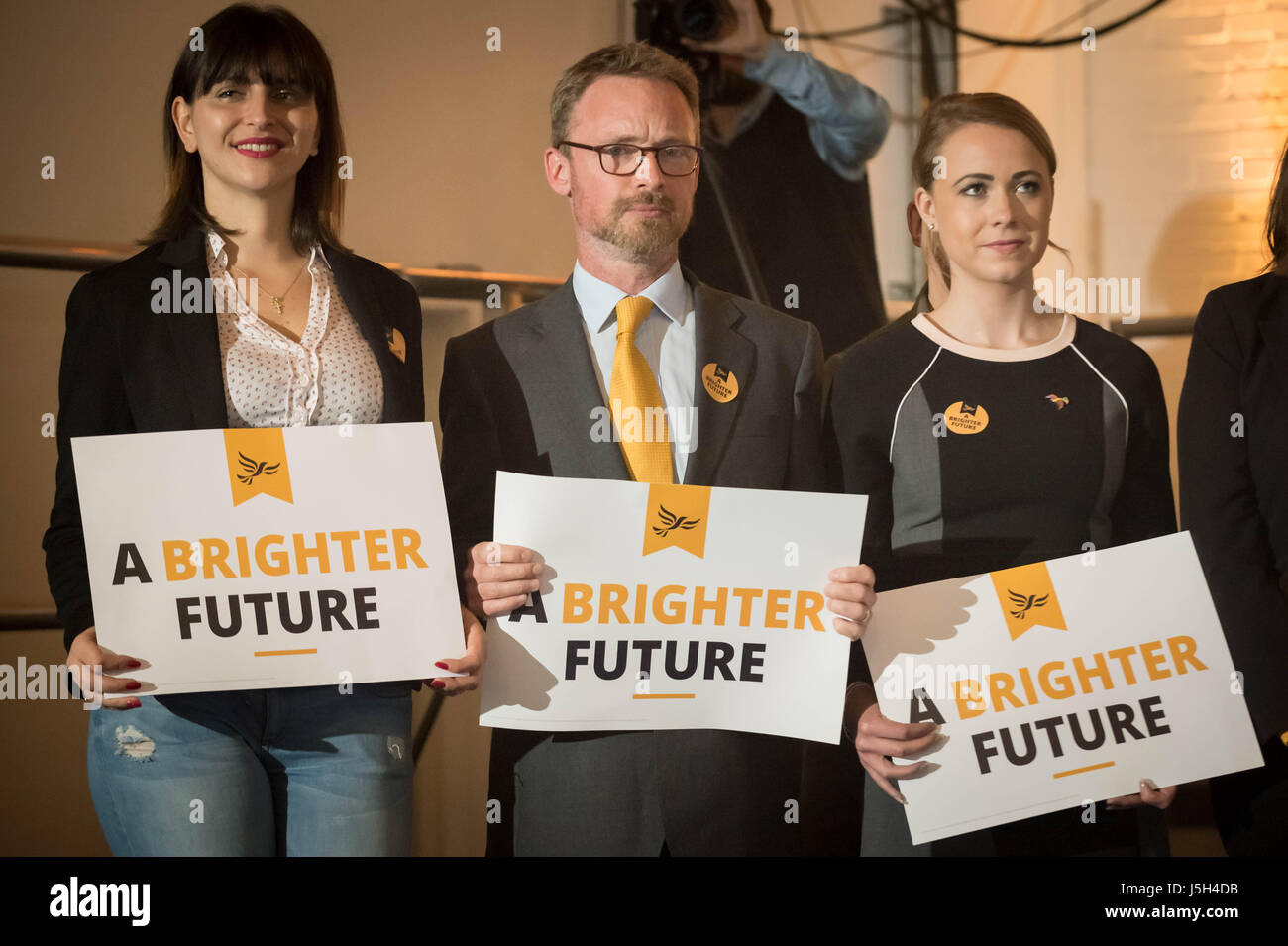 London, UK. 17th May, 2017. Supporters at The Liberal Democrats General Election Manifesto Launch.  © Guy Corbishley/Alamy - Stock Image