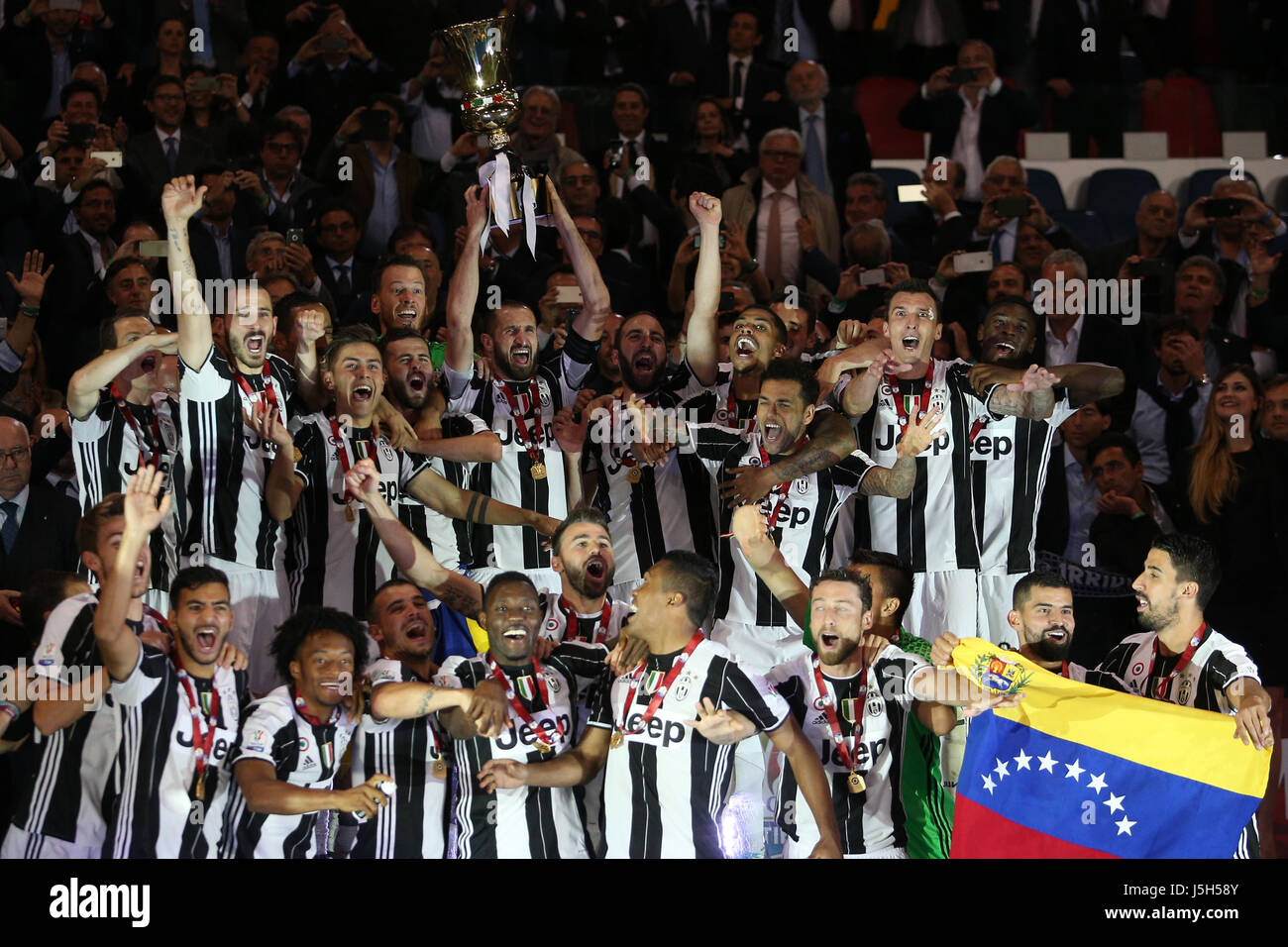 aceb35e1e TIM CUP FINAL MATCH. F.C Juventus vs S.S. Lazio. Juventus Win the match and  celebrates TIM CUP Final soccer match S.S. Lazio vs ...