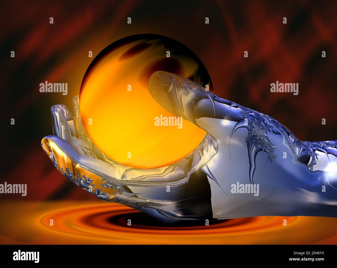 Blue Hand Finger Art Fantasy Heat Abstract Lava Web Design