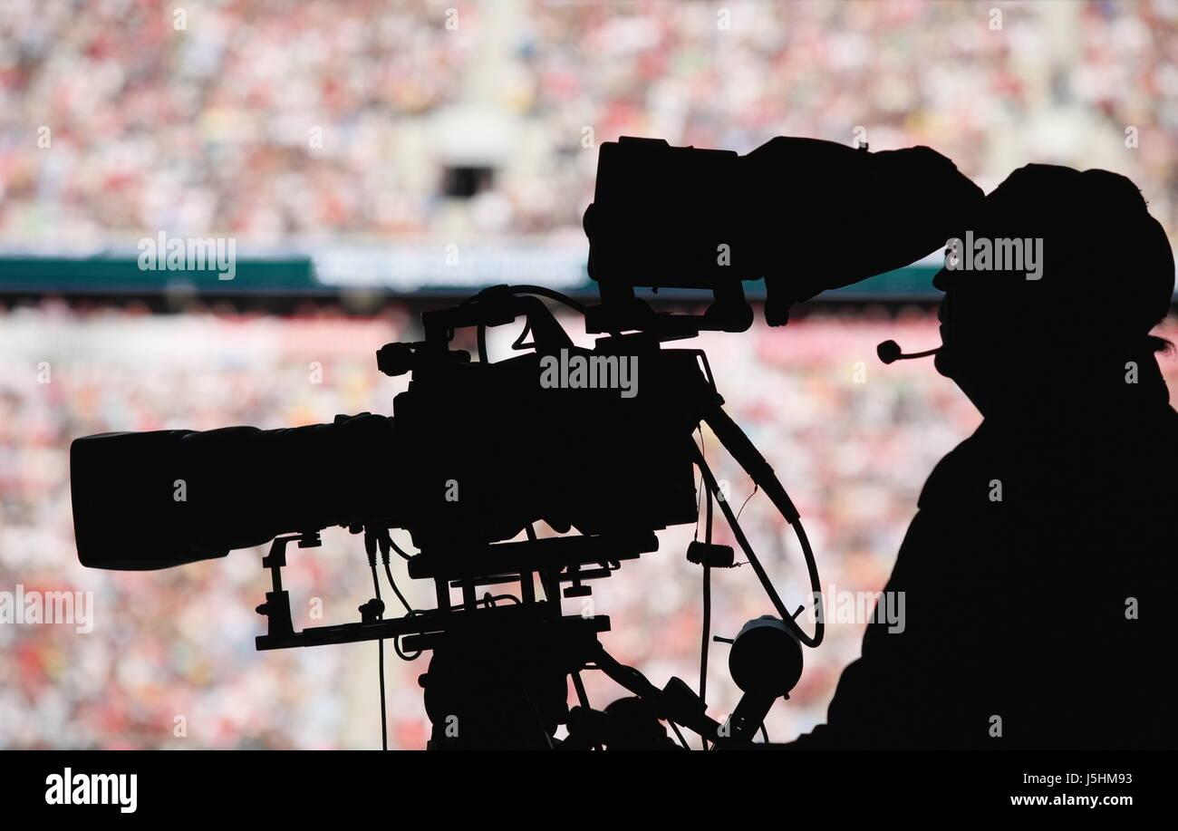 cameraman stadium - Stock Image