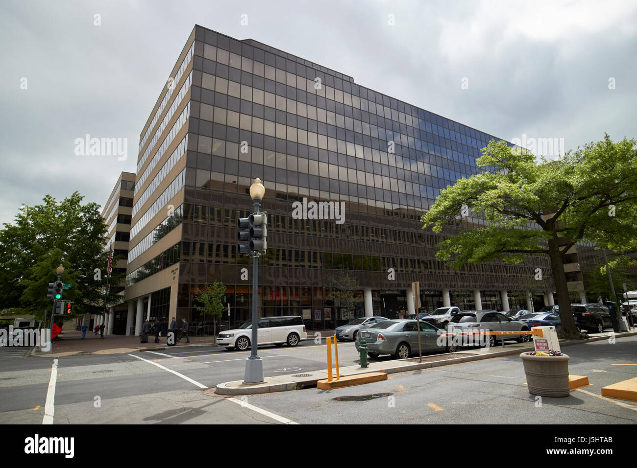 federal plaza government office buildings including state department annex and fema headquarters Washington DC USA - Stock Image