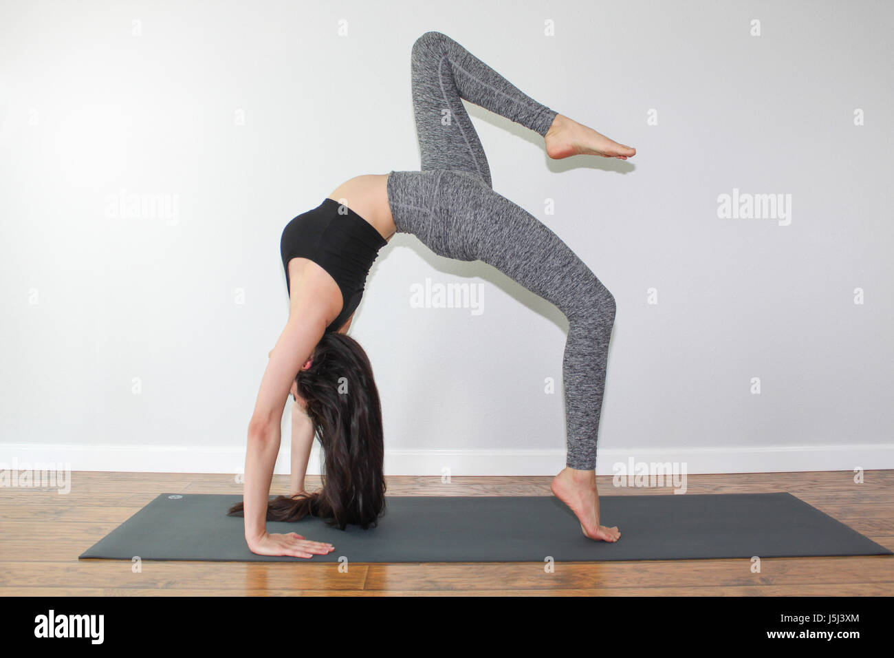 Yoga Wheel Pose High Resolution Stock Photography And Images Alamy
