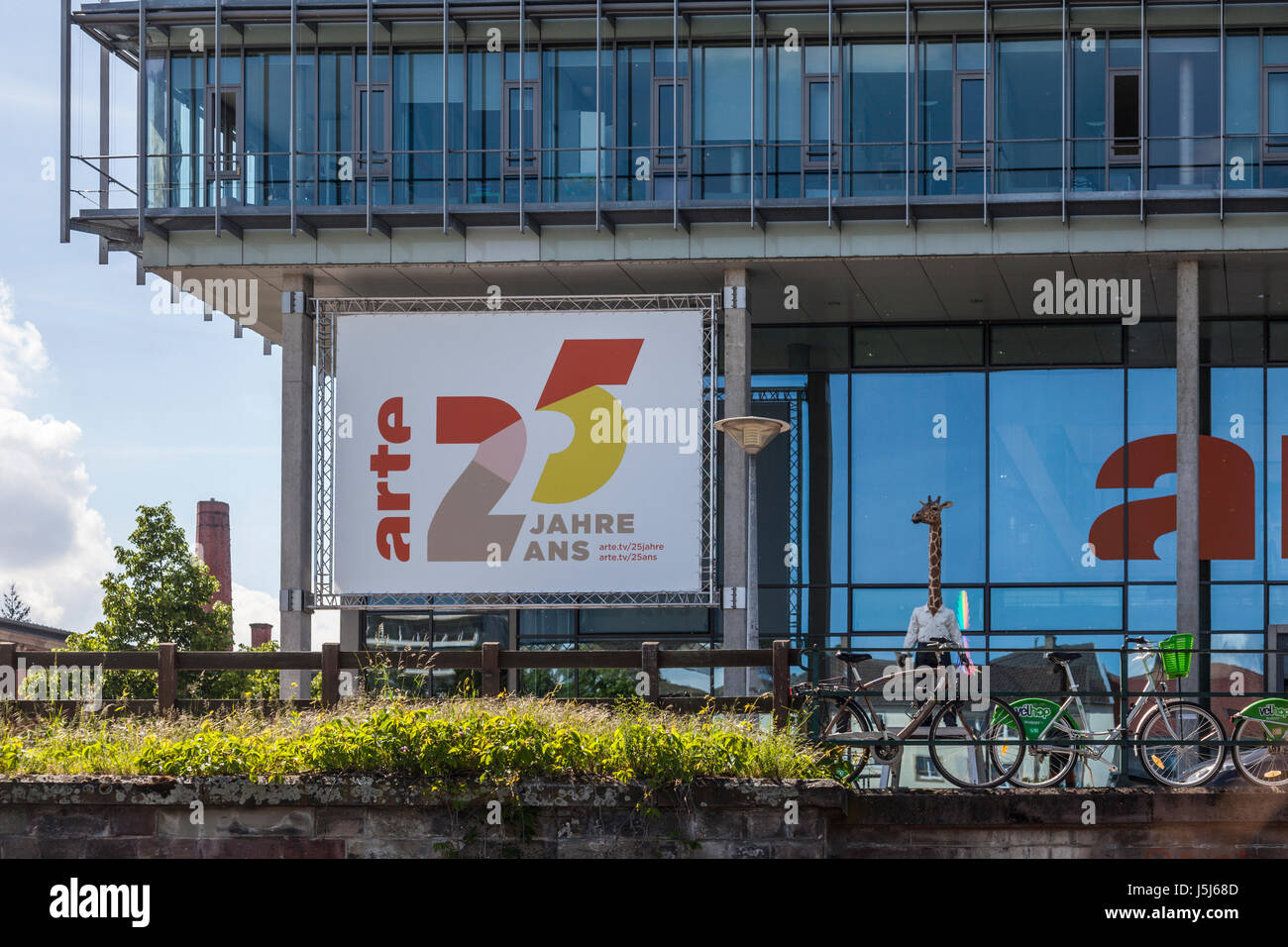 Headquarters of ARTE (Association relative à la télévision européenne), a dual language public - Stock Image