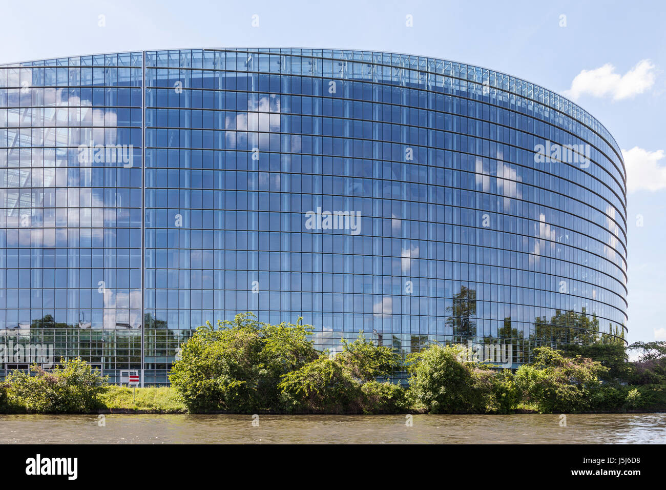 The Louise Weiss Building - European Parliament - Strasbourg, Alsace, France. - Stock Image