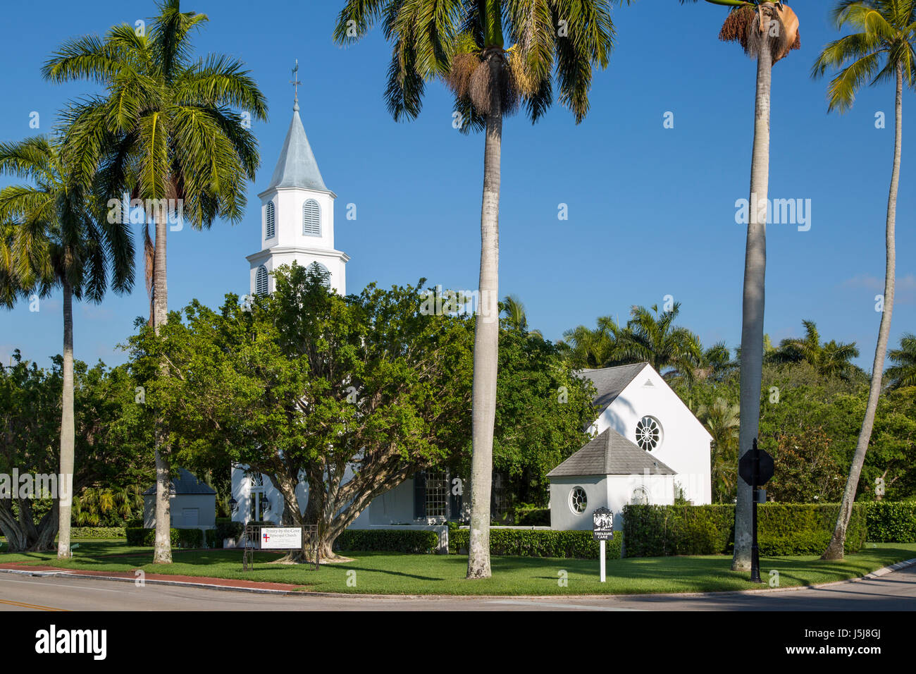 Trinity-by-the-Cove Episcopal Church, Naples, Florida, USA - Stock Image