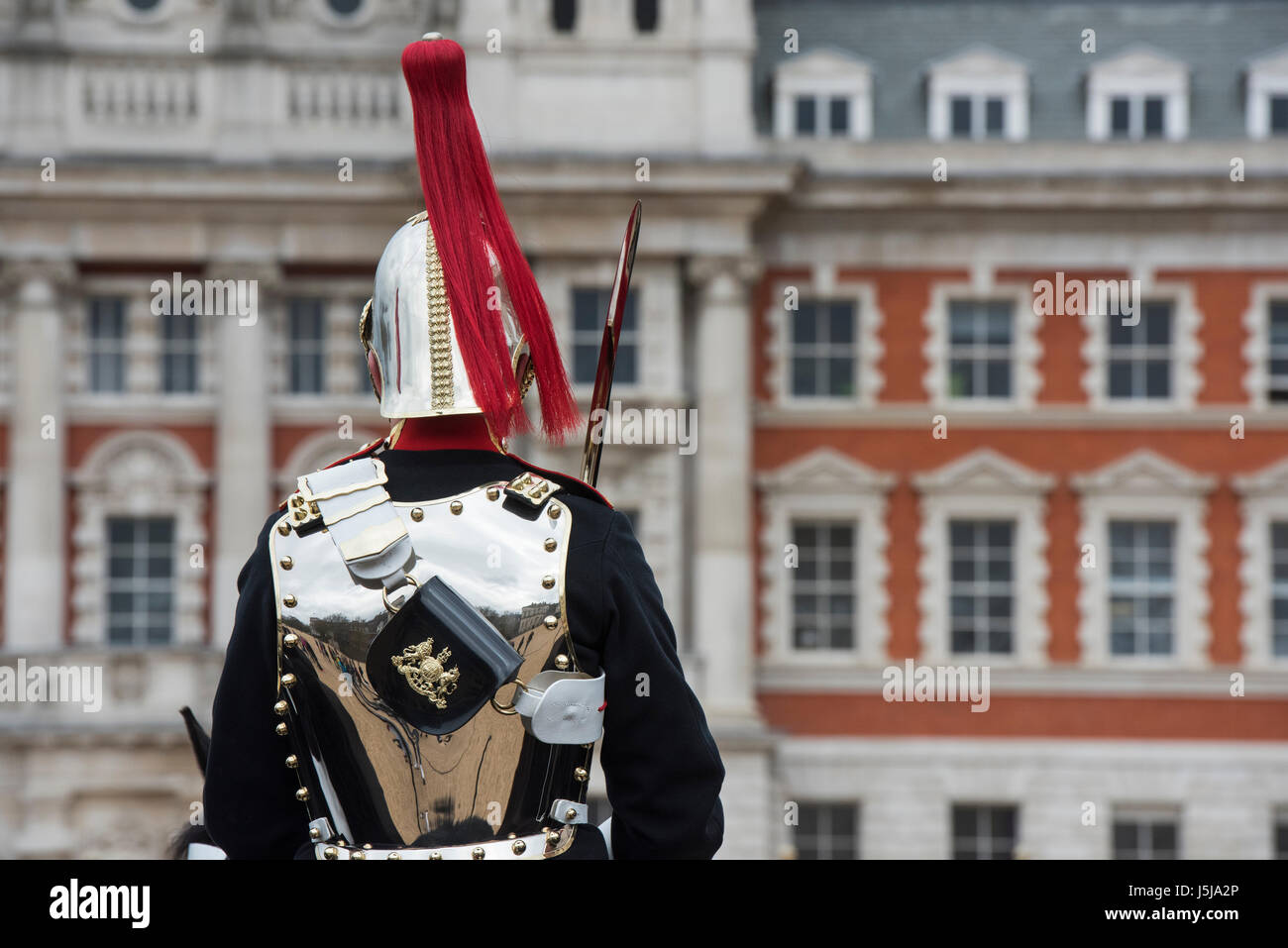 Household Cavalry. Changing of the guard at Horse guards parade, London, UK Stock Photo