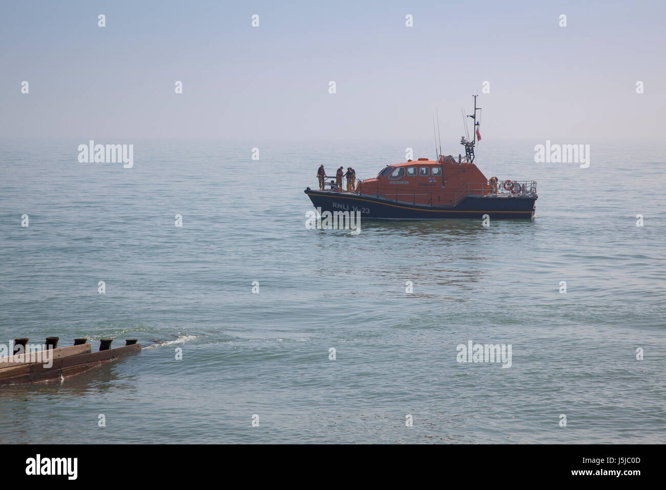 RNLI Lifeboat at Eastbourne Stock Photo