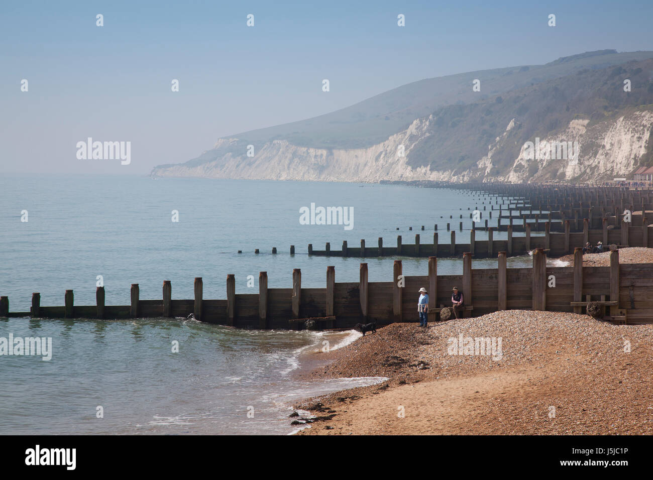 Beach at Eastbourne Stock Photo