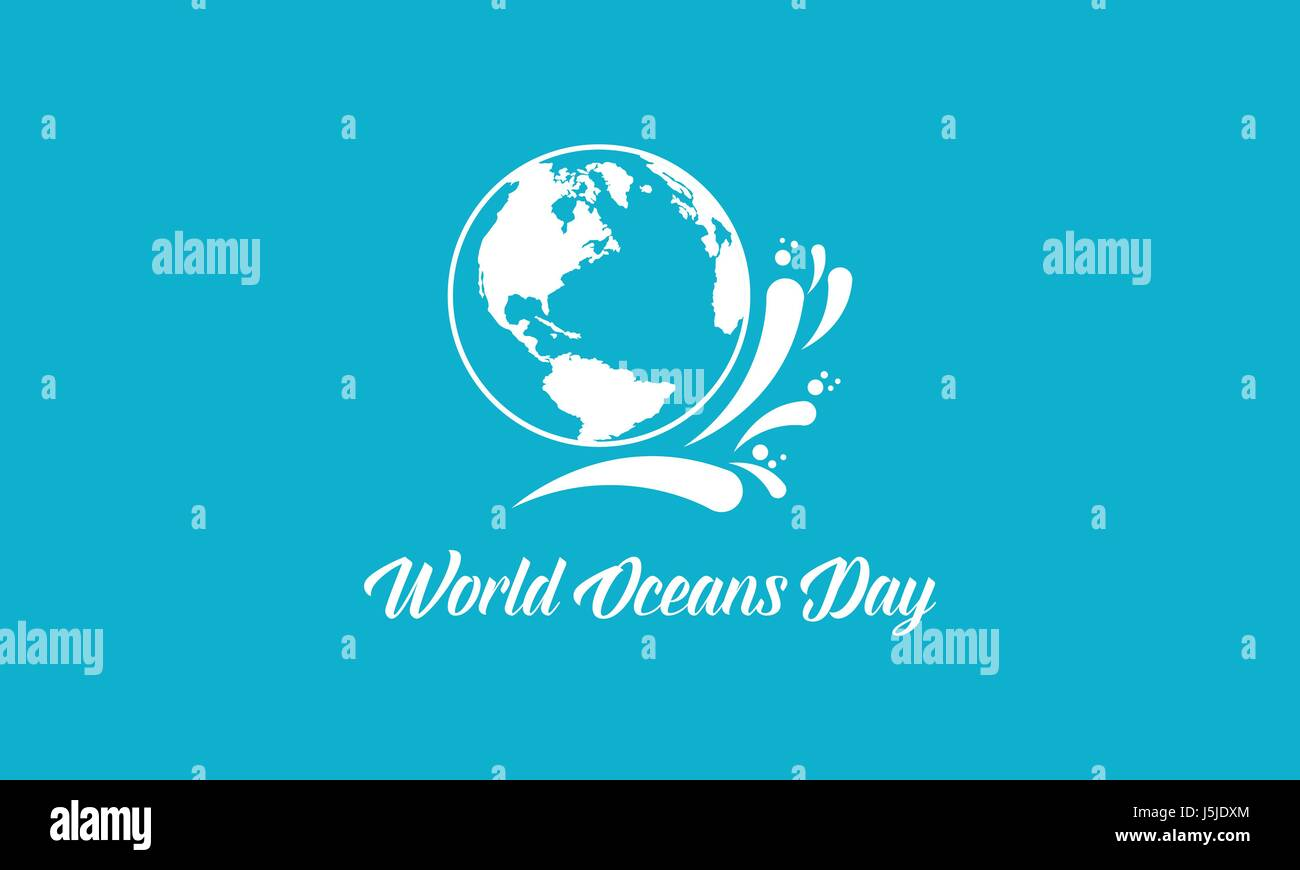 Background world ocean day style - Stock Image