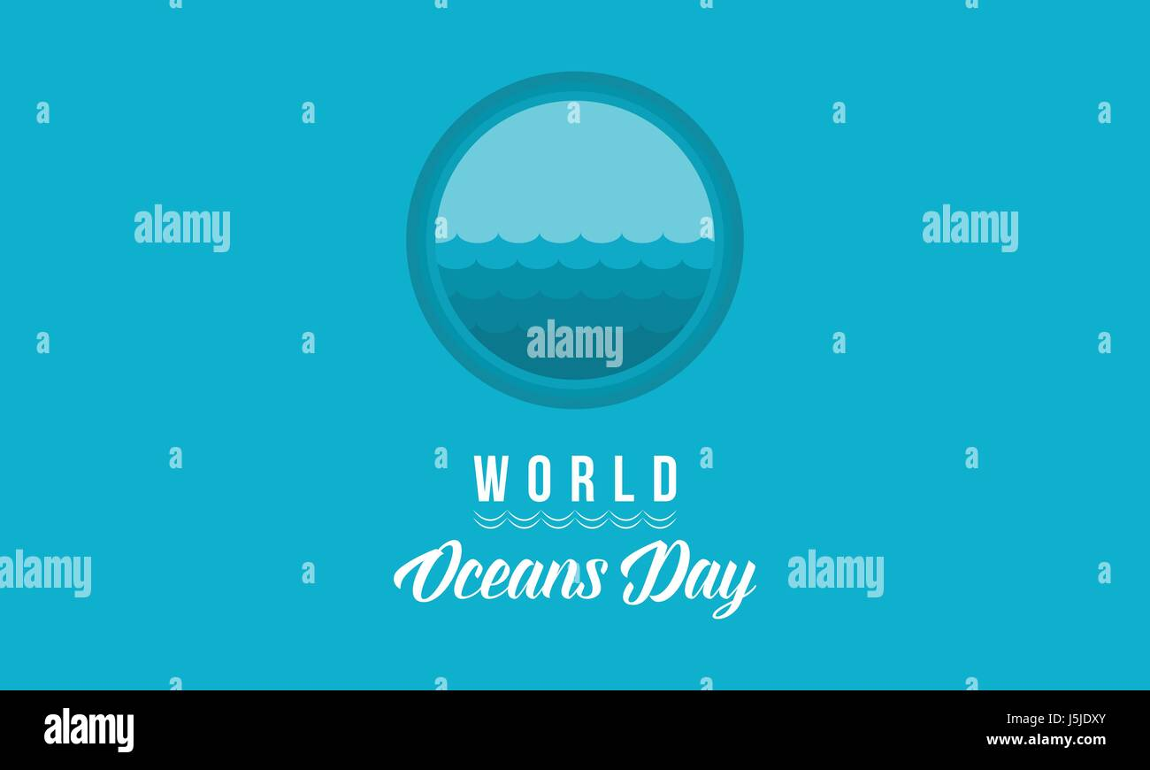 Banner of world ocean day style - Stock Image