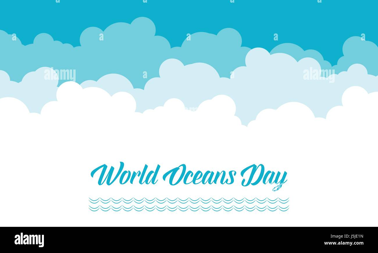 World ocean day with cloud background - Stock Image