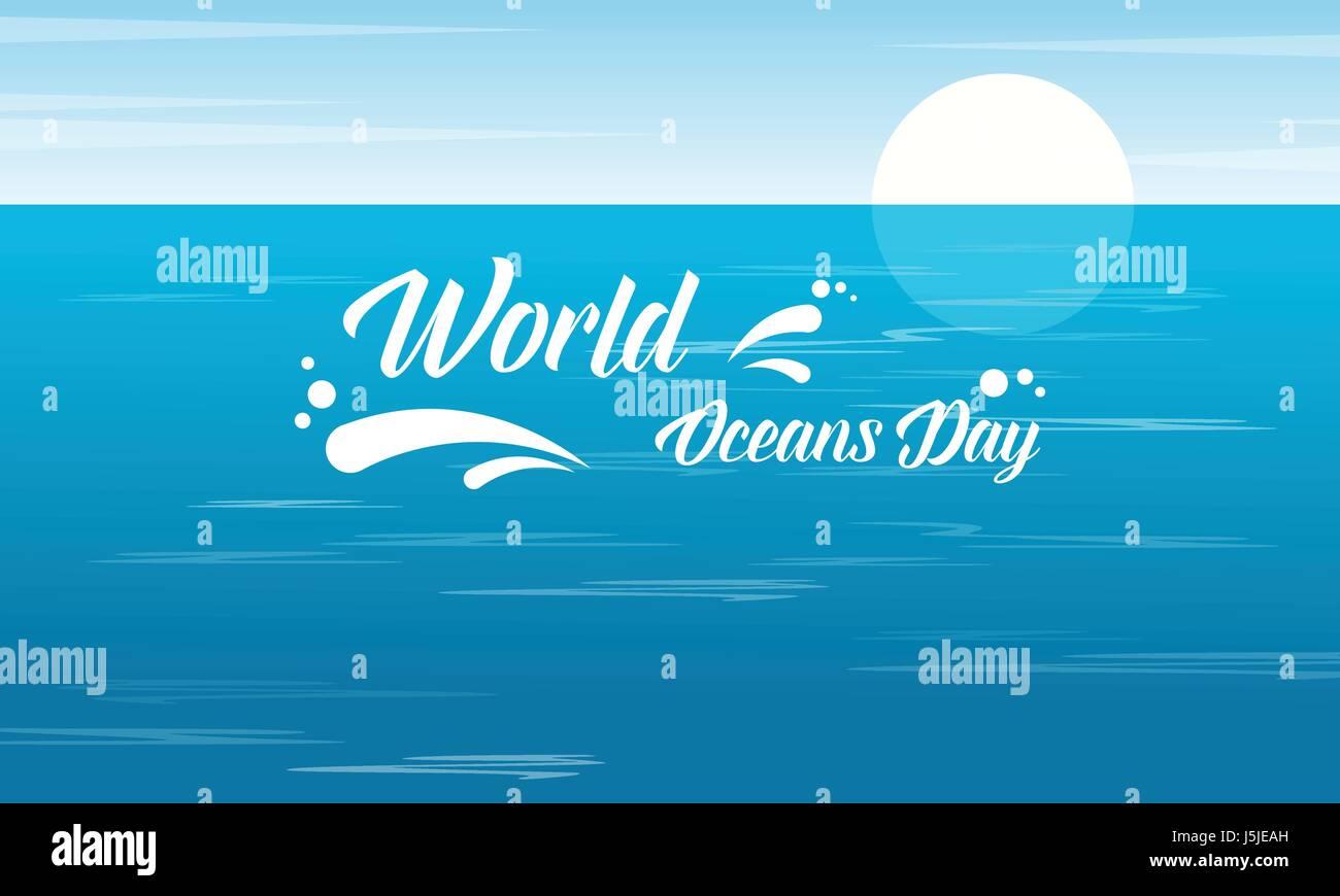 World ocean day design vector flat Stock Vector