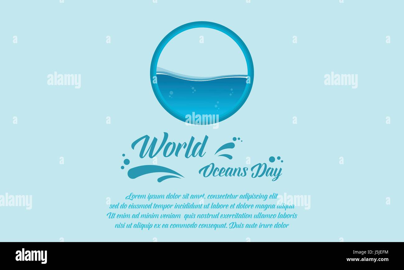 Banner style for world ocean day - Stock Image