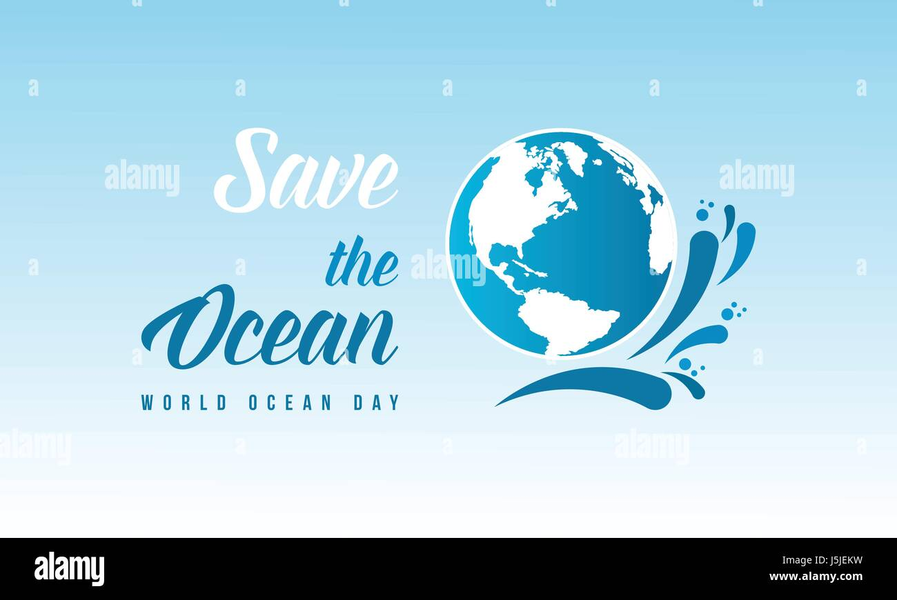 Save the ocean style design background - Stock Image