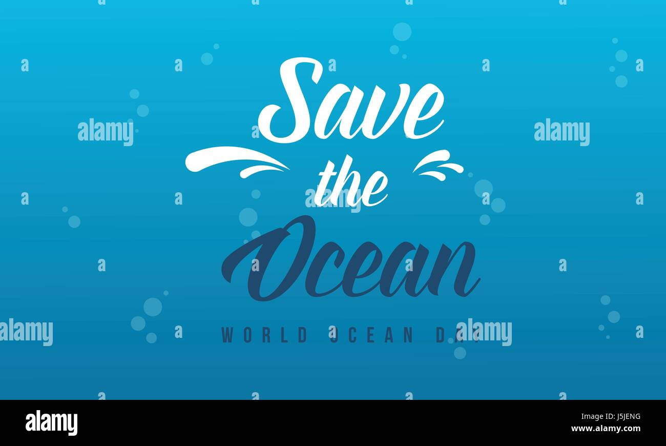 Background for save the ocean style - Stock Image