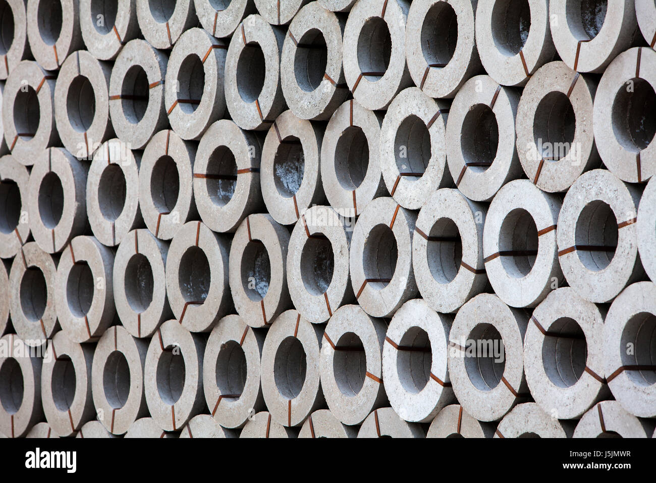 Concrete pipes, Germany - Stock Image