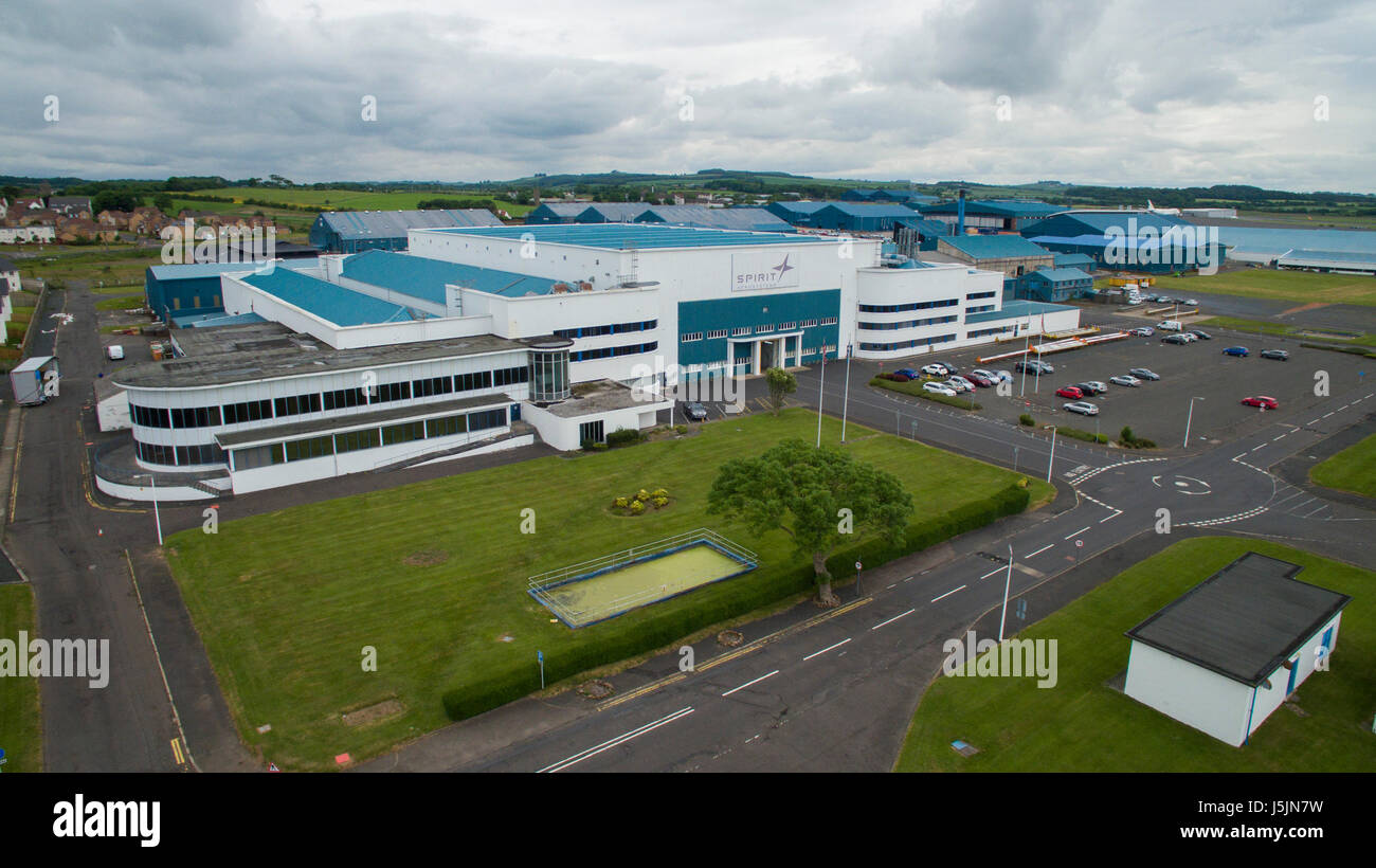 Palace of Engineering Prestwick Airport. Moved from Glasgow, piece by piece, after 1938  Great Exhibition. Used Stock Photo