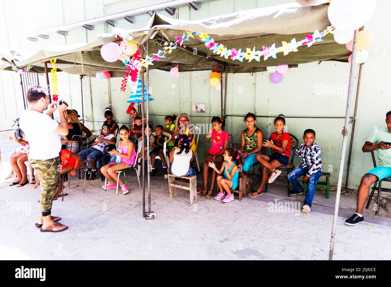 Childrens party in Havana Cuba, Cuban kids party, kids party Cuba, Kids party Havana cuba, Children's party, - Stock Image