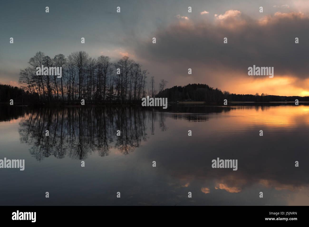 Beautiful sunset - Stock Image