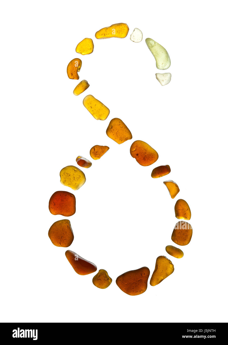 sea glass symbol Greek letter delta on white background Stock