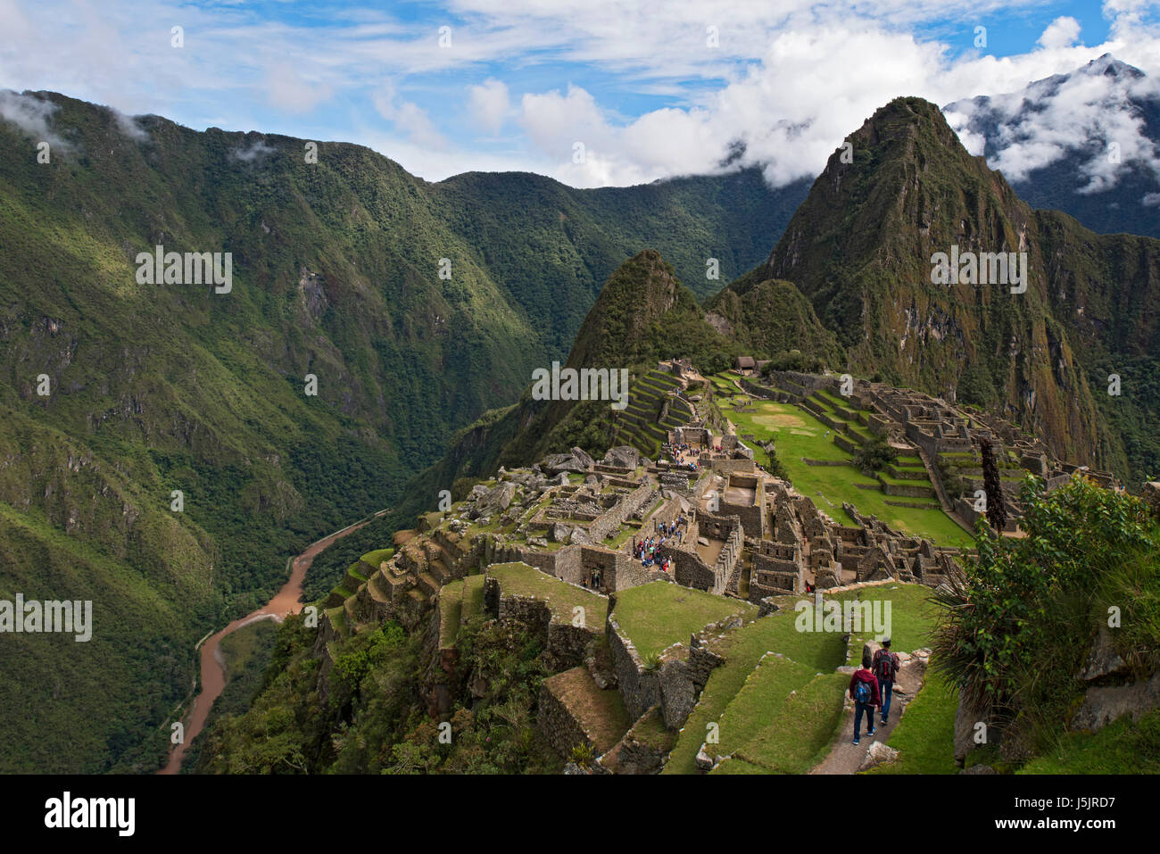 The ruins of Machu Picchu, Peru - Stock Image