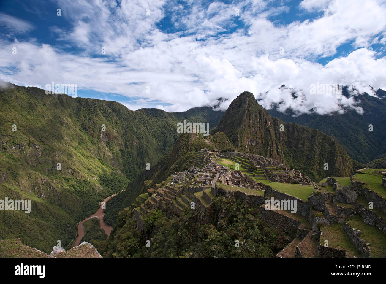 The ruins of Machu Picchu, Peru - Stock Image