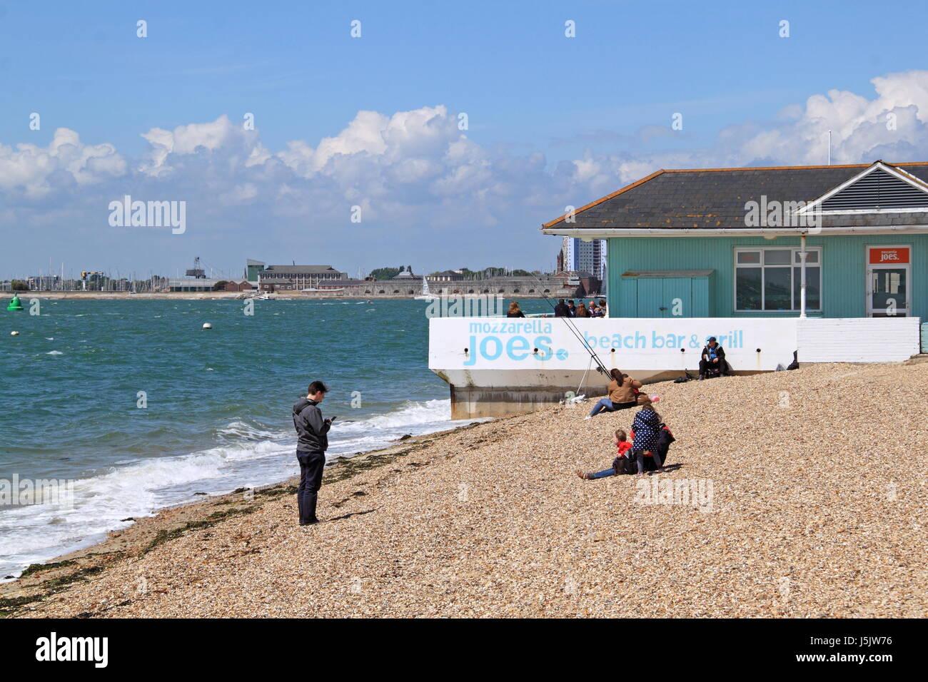 Mozzarella Joes, Clarence Esplanade, Southsea, Portsmouth, Hampshire, England, Great Britain, United Kingdom, UK, Stock Photo