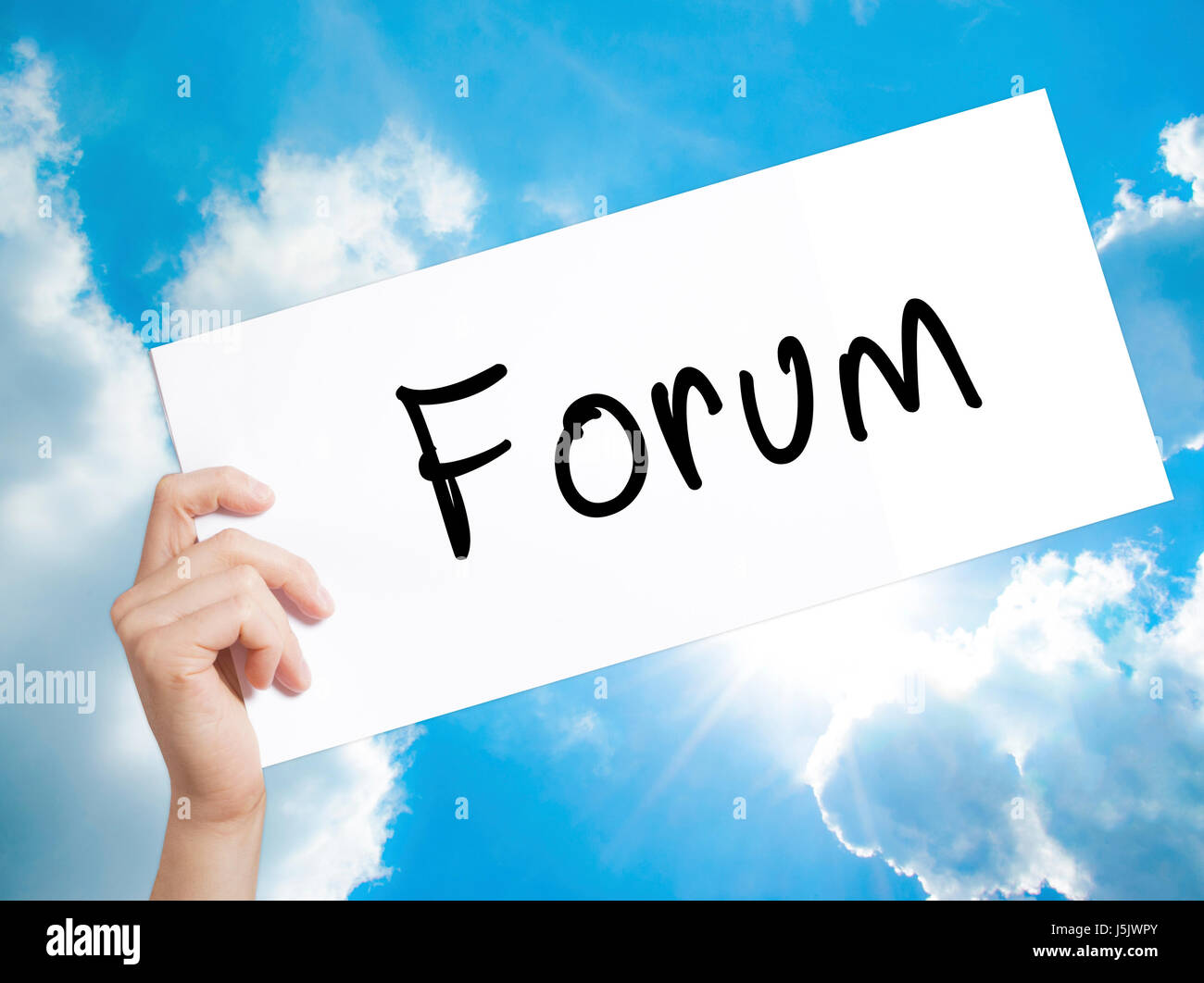 Forum black marker on visual screen.  Business concept. Stock Photo - Stock Image
