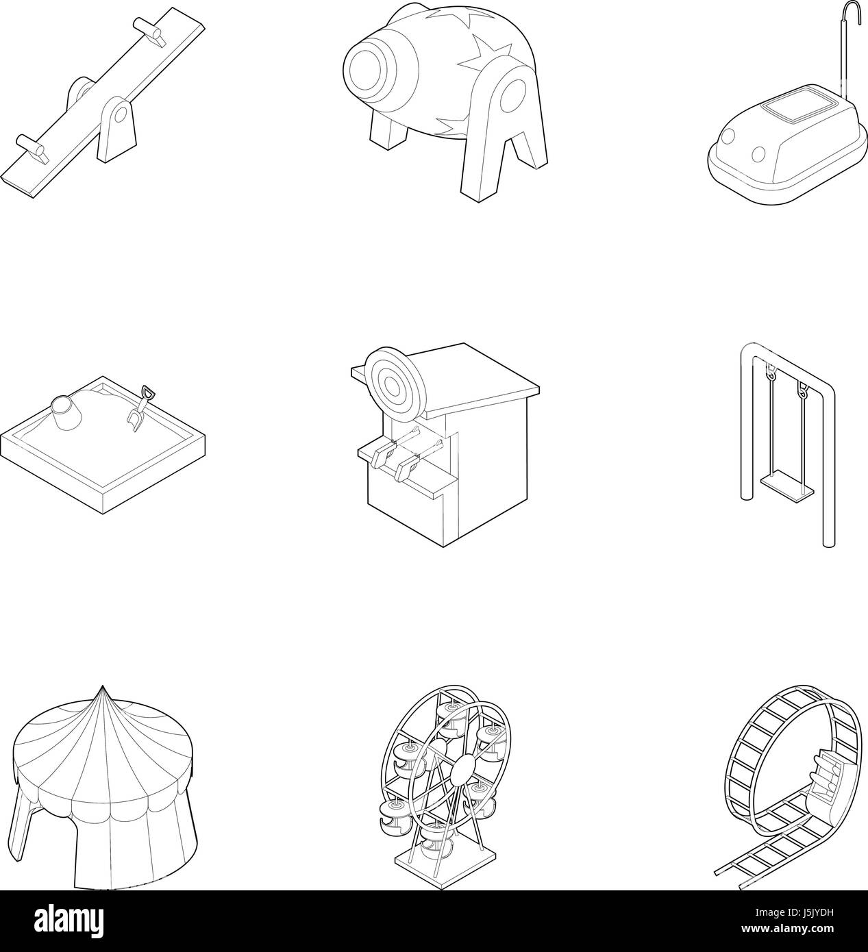 Roller Coaster Children Black And White Stock Photos Images Alamy Rollercoaster Diagram Games Icons Set Outline Style Image