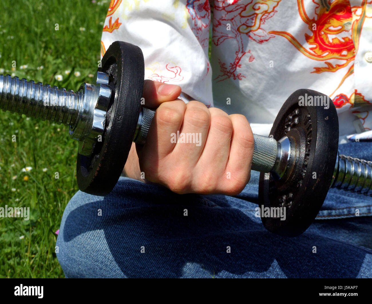 successful succesful sport sports upstairs strong muscles sporty athletic wiry - Stock Image