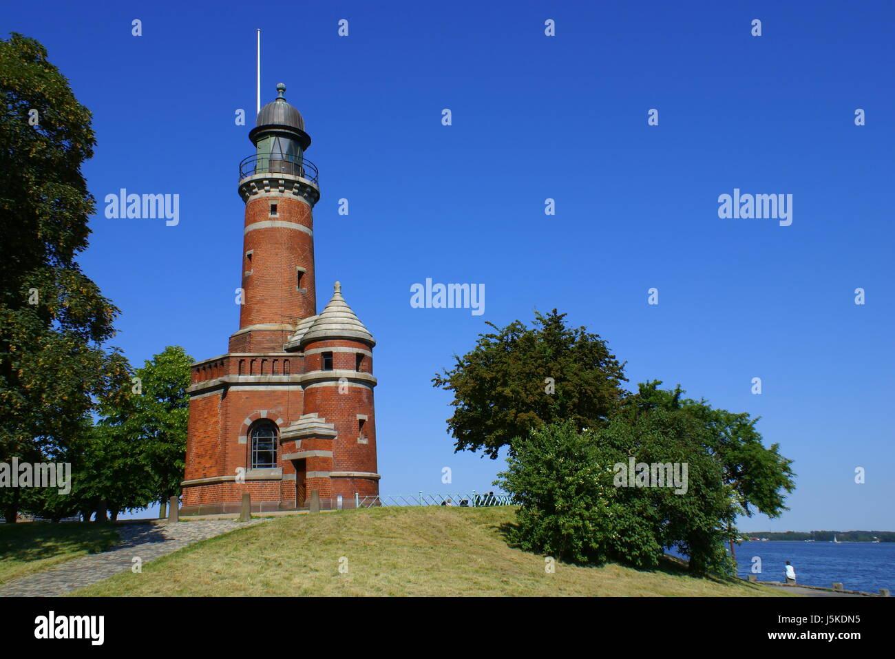 historical navy keel channel entry lighthouse holtenau nord-ostsee-kanal kieler Stock Photo