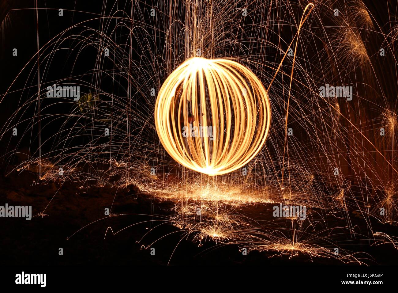 Ball Of Fire Stock Photo