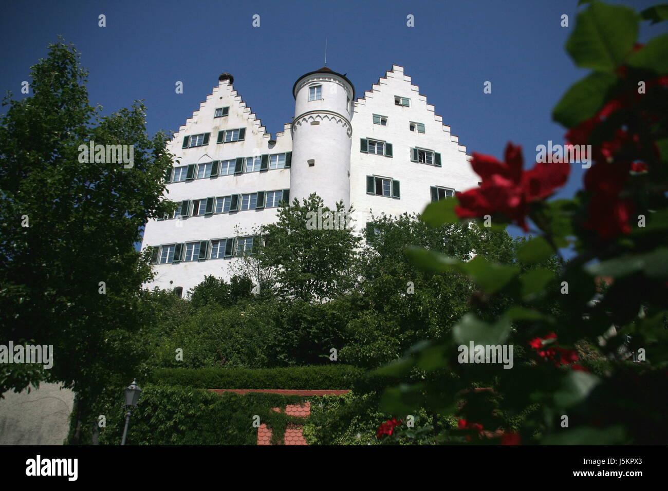 classicism residence aulendorf oberschwaben schlo kulturdenkmal burganlage - Stock Image