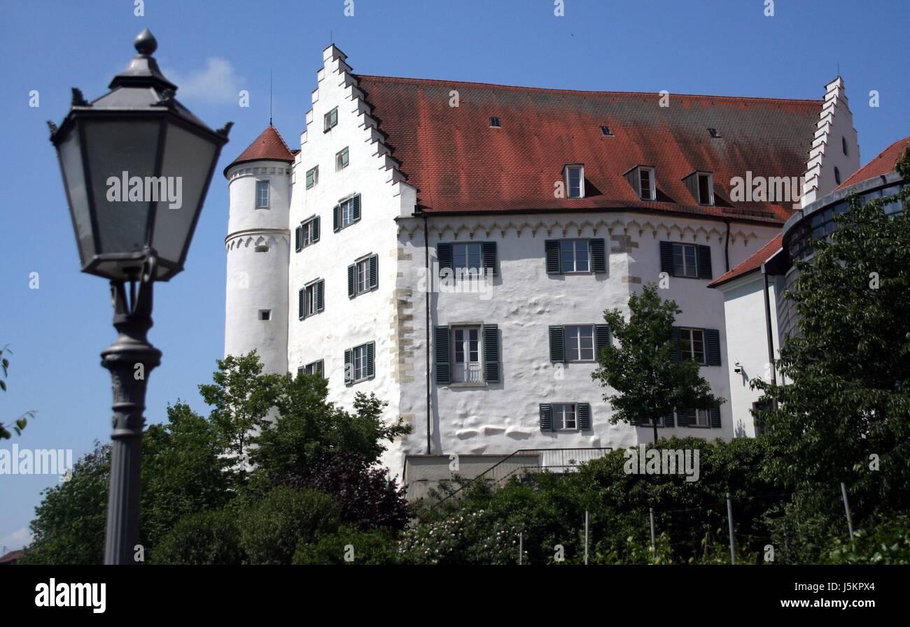 lantern classicism residence aulendorf oberschwaben schlo kulturdenkmal - Stock Image