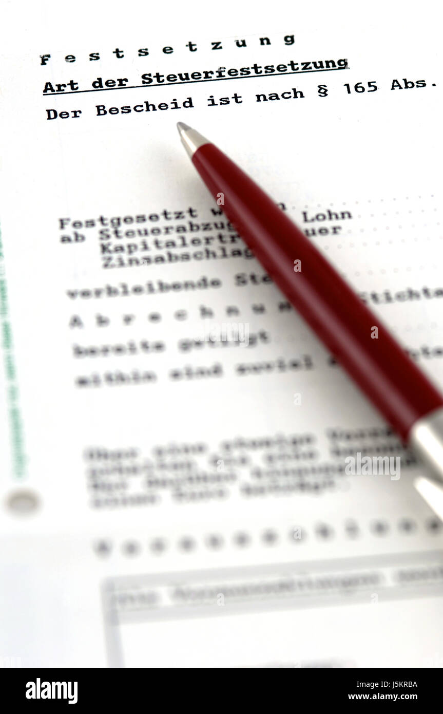 tax assessment - Stock Image
