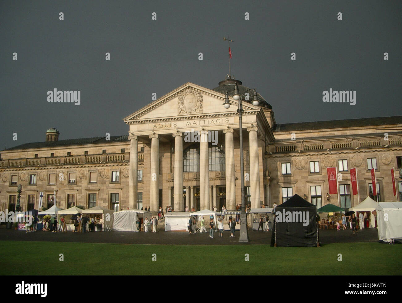 columns hesse classical pageantry event provincial capital city spa gardens - Stock Image