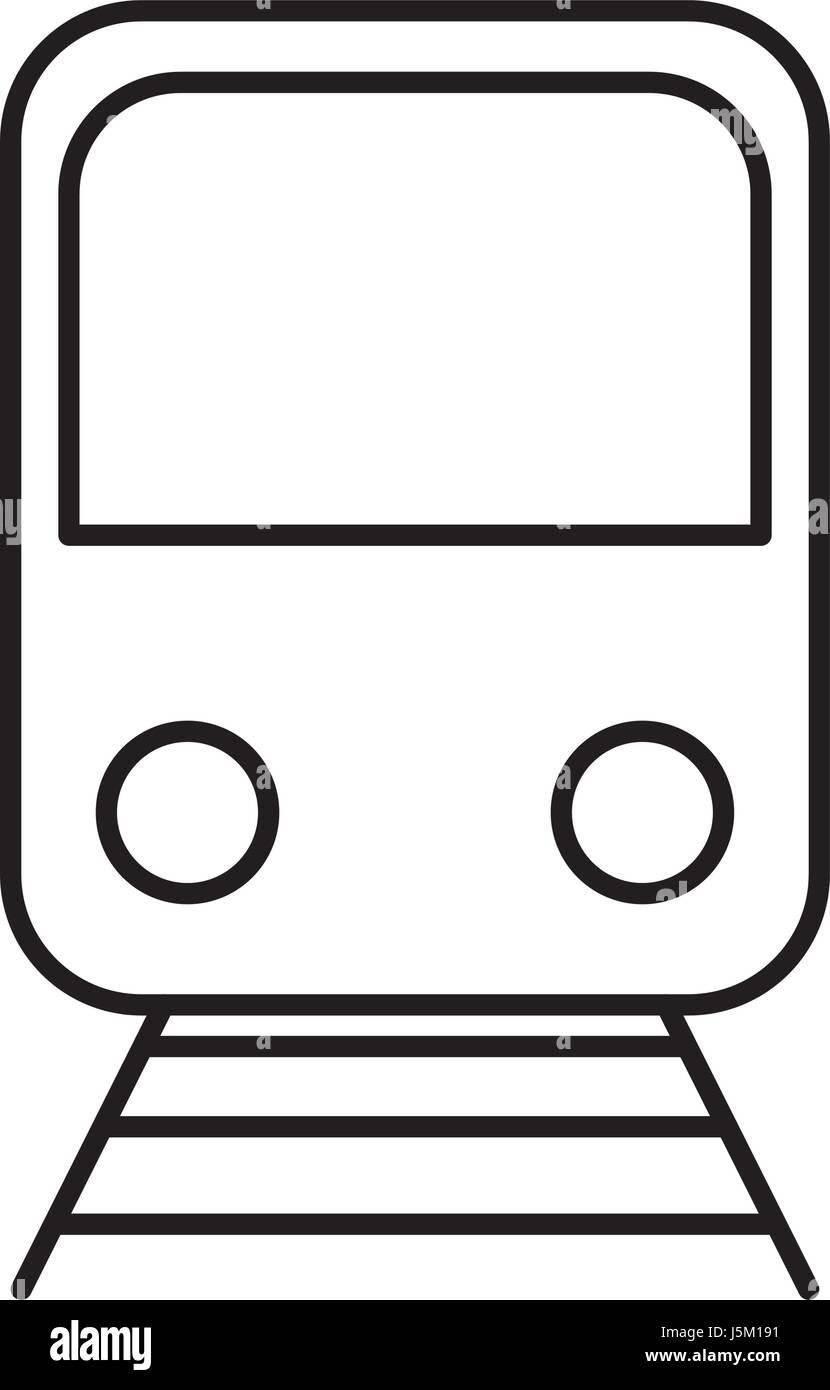 train vehicle icon - Stock Image