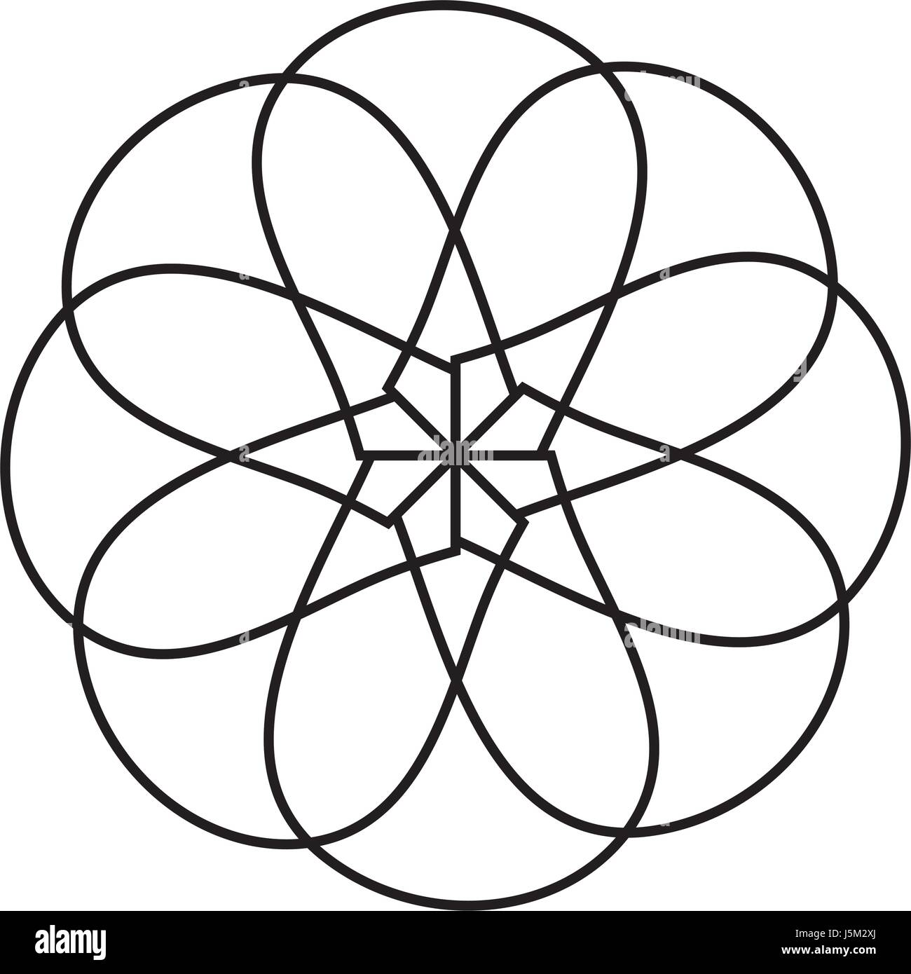 Symmetrical figure icon - Stock Image