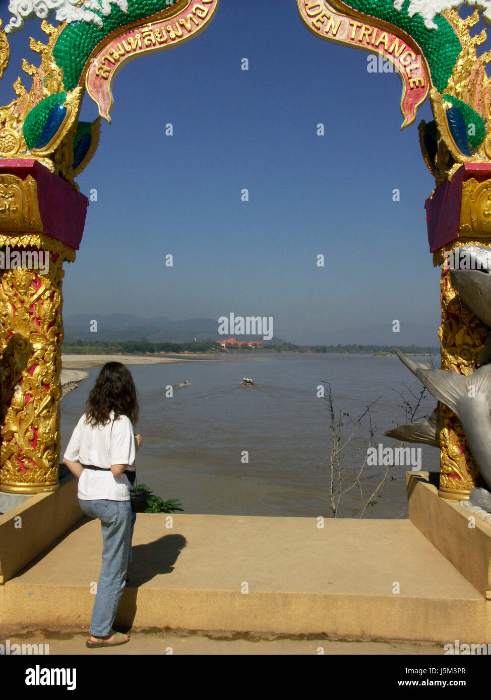 woman holiday vacation holidays vacations asia goal passage gate archgway - Stock Image