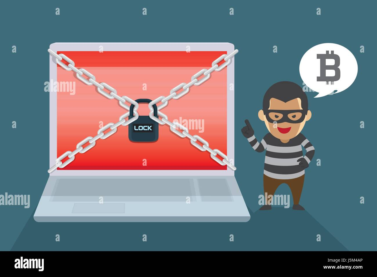 Hacker demand Bitcoin payments to restore computer systems. Illustration about Wanna Cry Ransomware Virus. - Stock Vector