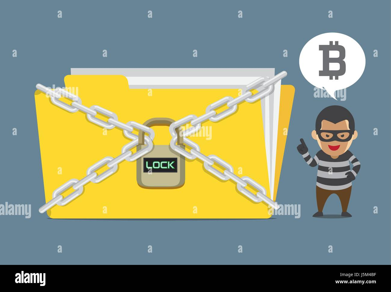 Hacker Lock A Data File And Demand Bitcoin Payment For Unlock Code Stock Vector Image Art Alamy