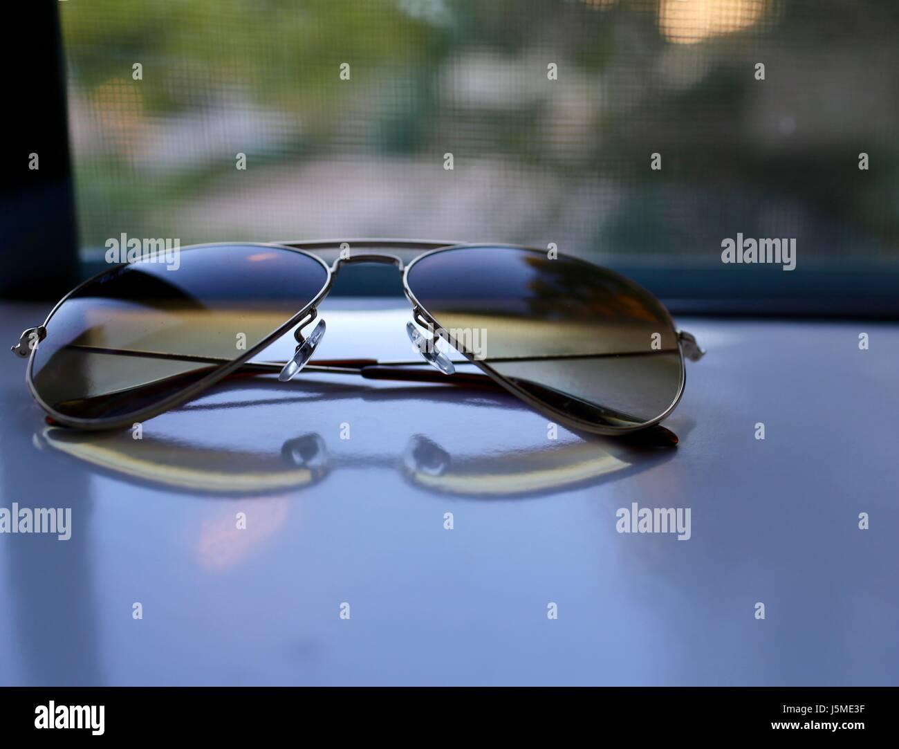Sunglass Reflection - Stock Image