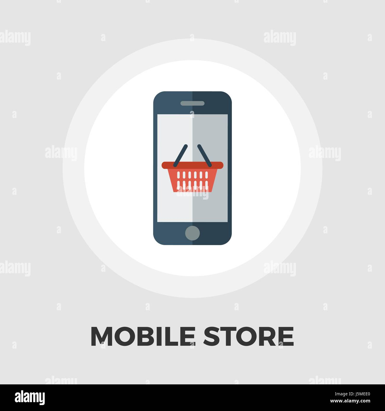Mobile store icon vector. Flat icon isolated on the white background. Editable EPS file. Vector illustration. - Stock Vector